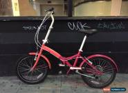 Folding Bike pink 20' 6 gears , in very good condition and new Paint! for Sale