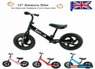 "12"" Children Kids Balance Bike Running Training Child Gift Boys Girls First Bike for Sale"