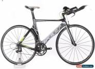 USED 2012 Felt B12 54cm Carbon TT Triathlon Bike SRAM Force 2x10 Speed Black for Sale