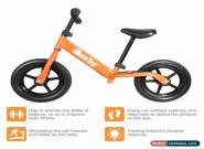 Kids Balance Bike Children Running Training Bicycle Boys Girls Child Gift Orange for Sale