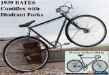 Classic  1939 BATES CANTIFLEX with Diadrant Forks Vintage Antique Bicycle for Sale