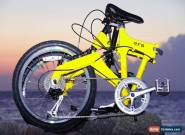 Downtube 9FS Yellow Full Suspension Folding Bike 9 speed ( 27speed compatable ) for Sale
