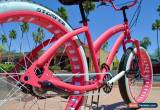 Classic Fat Tire Beach Cruiser - Miss STOMPER Ladies Hot Pink 3 Speed -  for Sale