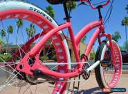 Fat Tire Beach Cruiser - Miss STOMPER Ladies Hot Pink 3 Speed -  for Sale
