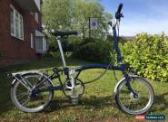 Brompton H6R Folding Bike Navy Blue, Dynamo Light, Toolkit & Tote bag! for Sale