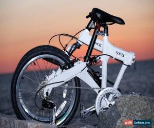 Classic Downtube 9FS White Full Suspension Folding Bike 9 speed ( 27speed compatable ) for Sale