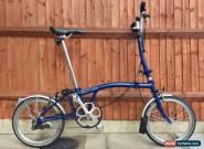 BROMPTON H3L BLUE THREE SPEED FOLDING BIKE BICYCLE WORLDWIDE SHIPPING for Sale