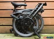 BROMPTON M6L BLACK EDITION FOLDING BIKE BICYCLE - WORLDWIDE POSTAGE for Sale