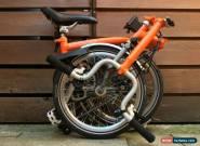 BROMPTON TITANIUM M-TYPE M3L-X TI ORANGE FOLDING BIKE CYCLE - WORLDWIDE POSTAGE for Sale