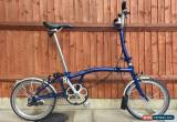 Classic BROMPTON H3L BLUE THREE SPEED FOLDING BIKE BICYCLE WORLDWIDE SHIPPING for Sale