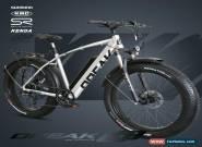 NEW! FATBIKE 28MPH OPEAK EBike Electric Bike SILVER 9 Speed Bicycle e-bike 750Ww for Sale