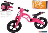 Classic POPBIKE Children Kids Learning Balance Bike 12 EN71 & CE Certified Safety PINK for Sale
