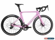 44cm Road Bike Full Carbon Disc Brake 700C Race Frame Alloy Wheels Clincher Pink for Sale