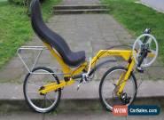 "Recumbent Recumbentbicycle Folding Bike Flevobike 20""  for Sale"