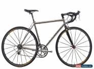 2002 Seven Alaris Road Bike 55cm Medium Titanium Shimano Dura-Ace 7700 9 Speed for Sale