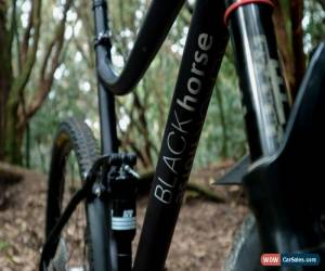 Classic BLACKhorse: Custom Hard Anodized Trail MTB for Sale