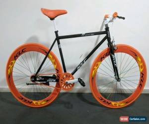 Classic Brand new Single Speed Fixed Gear / fixie Road Bike - black orange colour for Sale