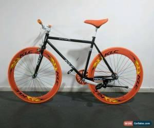 Classic Brand new Single Speed Fixed Gear / fixie Road Bike - black orange colour for Sale
