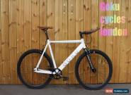 GOKU Custom Single Speed Fixed Gear Bike Road Bike Alloy Aluminium Frame White for Sale