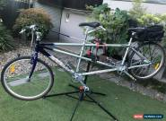 Apollo Tandem bike, silver, excellent condition, lovingly looked after for Sale