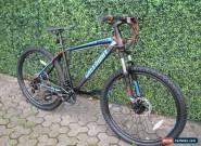 "MATT  BLACK  21 SPEED  MTB MOUNTAIN BIKE BICYCLE 26"" WHEEL 16.5"" FRAME for Sale"