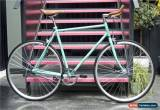 Classic Hackney Club Vintage Single Speed bike Fixed Gear / fixie Road Bikes Blue for Sale