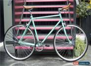 Hackney Club Vintage Single Speed bike Fixed Gear / fixie Road Bikes Blue for Sale