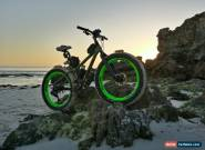 Salsa Mukluk 3 Tank Green + Fluoro Lime Green Carbon Wheels Fatbike Fat Bicycle for Sale