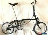 Brompton H3L Black 3 Speed Folding Bike + Brooks Saddle + WORLDWIDE SHIPPING for Sale