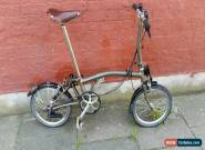 Brompton S6L raw lacquer folding bike shipping worldwide available  for Sale