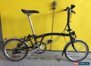 Brompton S2L BLACK IN MINT CONDITION **WORLDWIDE P&P** for Sale