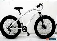 Mammoth FAT TYRE Mountain BIKE WHITE With Gears Adult Top Seller UK Stock3 for Sale