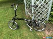BROMPTON M6L MODEL FOLDING BIKE 6 SPEED 2015 Black for Sale