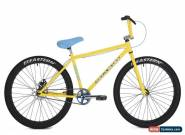 "New 2019 Eastern Growler Limited 26"" BMX Bicycle Bike 3 Piece Crank Yellow for Sale"