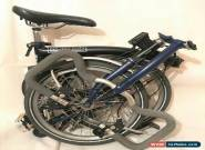 Brompton P3L Bespoke Black & Blue 3 Speed Folding Bike EXCELLENT CONDITION!!! for Sale