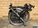 Brompton M6L Folding Bike Black **Worldwide Postage** for Sale