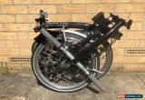 Classic Brompton M6L Folding Bike Black **Worldwide Postage** for Sale
