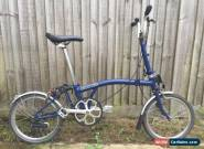 BROMPTON M1L COBALT BLUE IN MINT CONDITION **WORLDWIDE P&P** for Sale