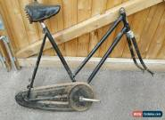 "VINTAGE 1936 HERCULES LADIES BICYCLE FRAME FOR 26 "" WHEELS INCOMPLETE FOR SPARES for Sale"