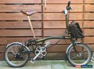 BROMPTON M6L LIMITED BARBOUR EDITION FOLDING BIKE BICYCLE - WORLDWIDE POSTAGE for Sale