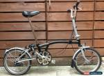 BROMPTON M-TYPE M3L BLACK/SILVER 3 SPEED FOLDING BIKE BICYCLE- WORLDWIDE POSTAGE for Sale