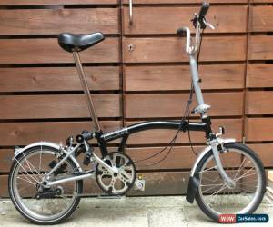 Classic BROMPTON M-TYPE M3L BLACK/SILVER 3 SPEED FOLDING BIKE BICYCLE- WORLDWIDE POSTAGE for Sale