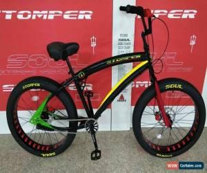 Classic Soul Beach Cruiser UK Fat Tyre Rasta Jamaican Stomper American Big Bicycle Bike  for Sale
