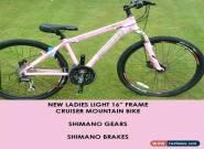Ladies Lovely Pink Aluminium Mountain Bike Shimano Gears Shimano Disc Brakes MTB for Sale