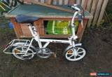 Classic Di Blasi white folding italian designer bike drum brakes for Sale