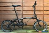 Classic brompton M6L Black Edition folding bike Use Shipping To Worldwide Available for Sale