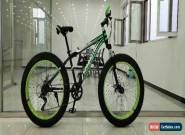 Mammoth FAT TYRE Mountain BIKE BLACK GREEN With Gears Adult Top Seller UK Stock2 for Sale