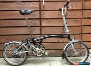 BROMPTON M-TYPE M3L BLACK/SILVER 3 SPEED FOLDING BIKE BICYCLE- WORLDWIDE POSTAGE for Sale