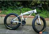 """Classic 26""""  WHITE Men's Fat Tire Bicycle Mountain Cruiser Bike 21 Speed Beach snow M1 for Sale"""