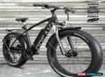 NEW! FATBIKE 28MPH OPEAK EBike Electric Bike BLACK 9 Speed Bicycle e-bike 750Wx for Sale